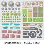 set of landscape elements.... | Shutterstock .eps vector #506674450