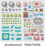 set of landscape elements....   Shutterstock .eps vector #506674456