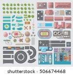 set of landscape elements. city.... | Shutterstock .eps vector #506674468
