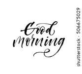 good morning postcard. hand... | Shutterstock .eps vector #506675029