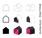 simple house icons isolated on... | Shutterstock .eps vector #506675548