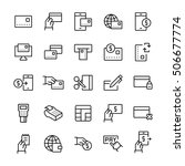 simple icon set of pay items in ... | Shutterstock .eps vector #506677774