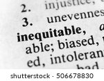 Small photo of Inequitable