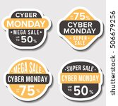 sale badges and stickers cyber... | Shutterstock .eps vector #506679256
