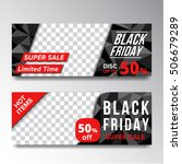 set of sale black friday banner    Shutterstock .eps vector #506679289