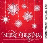 merry christmas lettering with... | Shutterstock .eps vector #506683120