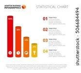 vertical cylinder bar chart... | Shutterstock .eps vector #506684494