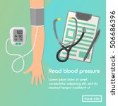 blood pressure vector... | Shutterstock .eps vector #506686396