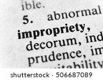 Small photo of Impropriety