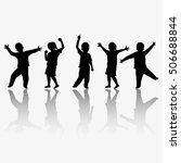 children silhouettes | Shutterstock . vector #506688844