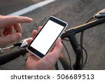 guy is using his smartphone as... | Shutterstock . vector #506689513