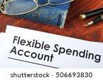 papers with flexible spending... | Shutterstock . vector #506693830
