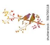 watercolor silhouettes of birds ... | Shutterstock . vector #506700118