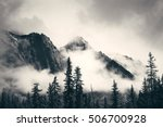 misty mountain in banff... | Shutterstock . vector #506700928