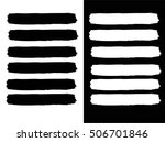 set of grunge lines. isolated... | Shutterstock .eps vector #506701846