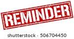reminder. grunge vintage... | Shutterstock .eps vector #506704450