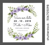 save the date  wedding... | Shutterstock .eps vector #506705098