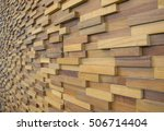 exposed wooden wall exterior ... | Shutterstock . vector #506714404