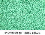 Green Glass Beads Background  ...