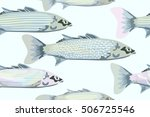abstract watercolor river fish  ...   Shutterstock .eps vector #506725546