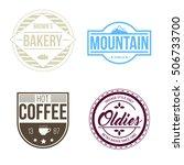 retro vintage badge logos... | Shutterstock .eps vector #506733700