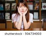 portrait of thai adult student...   Shutterstock . vector #506734003