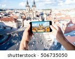 photographing with smart phone... | Shutterstock . vector #506735050