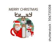 merry christmas flat. santa...   Shutterstock .eps vector #506735308