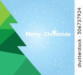 christmas card with christmas... | Shutterstock .eps vector #506737924