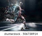 abstract soccer player  3d... | Shutterstock . vector #506738914