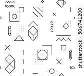 seamless pattern of geometric... | Shutterstock .eps vector #506741200
