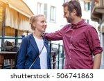 portrait of real happy couple  | Shutterstock . vector #506741863