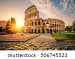 Colosseum In Rome At Sunrise ...