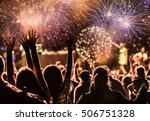 new year concept   cheering... | Shutterstock . vector #506751328