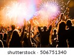 new year concept   cheering... | Shutterstock . vector #506751340