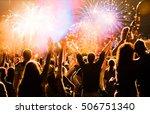 new year concept   cheering... | Shutterstock . vector #506751340
