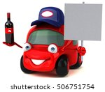 fun car   3d illustration | Shutterstock . vector #506751754