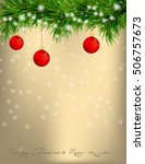 golden christmas and new year... | Shutterstock . vector #506757673