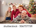 family celebration. father is... | Shutterstock . vector #506757739