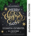 vector merry christmas party... | Shutterstock .eps vector #506760088
