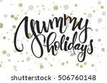 vector hand lettering christmas ...   Shutterstock .eps vector #506760148