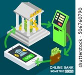 bank stock and investment ... | Shutterstock .eps vector #506760790