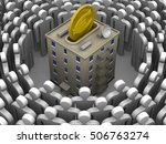 contribution to the... | Shutterstock . vector #506763274