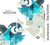 brochure header layout... | Shutterstock .eps vector #506763544