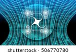 futuristic vector backdrop and... | Shutterstock .eps vector #506770780