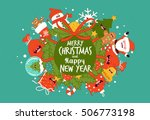 greeting card happy new year... | Shutterstock .eps vector #506773198