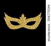 vector gold  glitter mask... | Shutterstock .eps vector #506775244