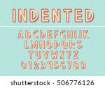 font and abc letters print... | Shutterstock .eps vector #506776126