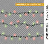 garlands  christmas decorations ... | Shutterstock .eps vector #506777503