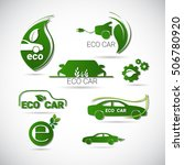 eco electric car friendly...   Shutterstock .eps vector #506780920